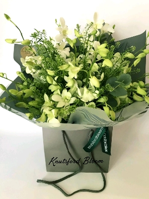 Singapore orchid hand tied bouquet
