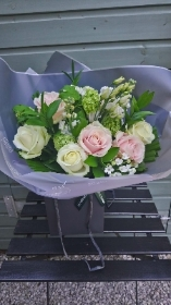 sweet creams hand tied bouquet
