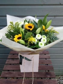 Bright hand tied bouquet