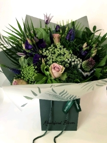 Violet Haze hand tied bouquet